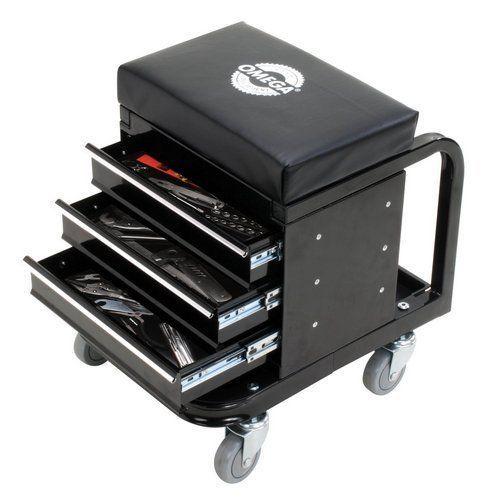 Toolbox-Creeper-Seat-3-Drawer-Rolling-Tools-Storage-Cabinet-Garage-Mechanic-Cart