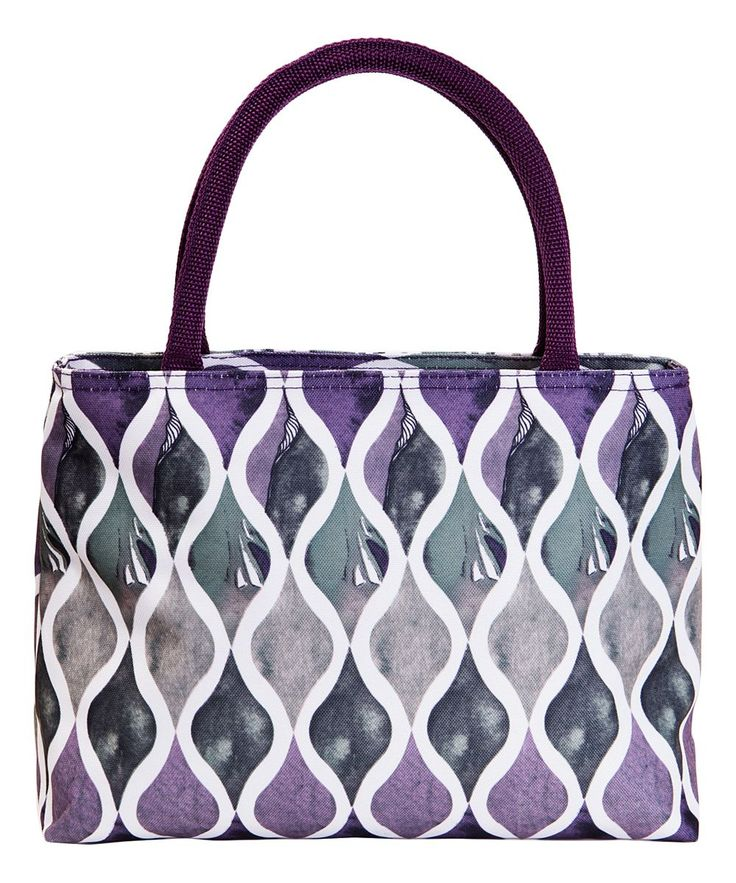Purple Wave Insulated Lunch Tote