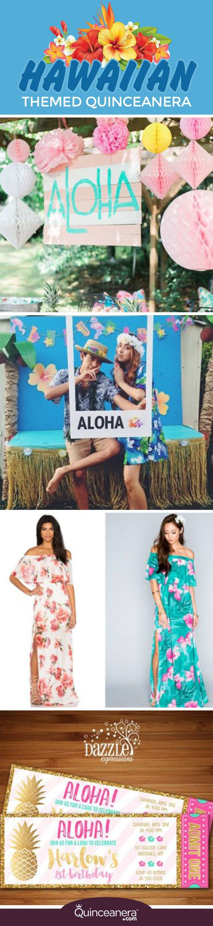 Here are a few ideas for this fun Hawaiian themed quinceañera party: http://www.quinceanera.com/decorations-themes/a-hawaiian-themed-quinceanera/