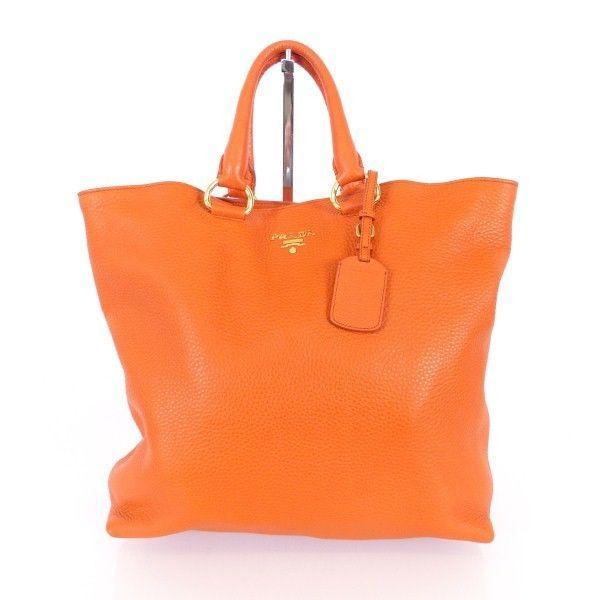 prada leder henkel tasche bag orange wie neu luxus ie464 bei what women. Black Bedroom Furniture Sets. Home Design Ideas