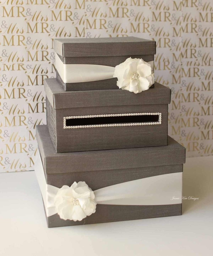 wedding gift card holders%0A Wedding Card  Money Box Gift Card Holder  choose your box  u     flower  colors cute idea but i can totally do this for less than     bucks