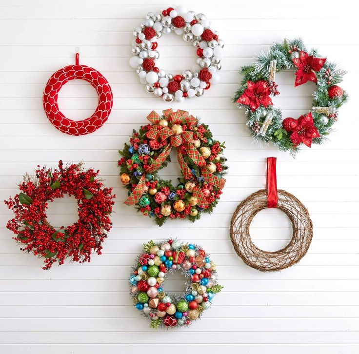 127 best welcoming wreaths images on pinterest christmas deco rethink the gallery wall with wreaths a collection of wreaths in different shapes sizes solutioingenieria Images