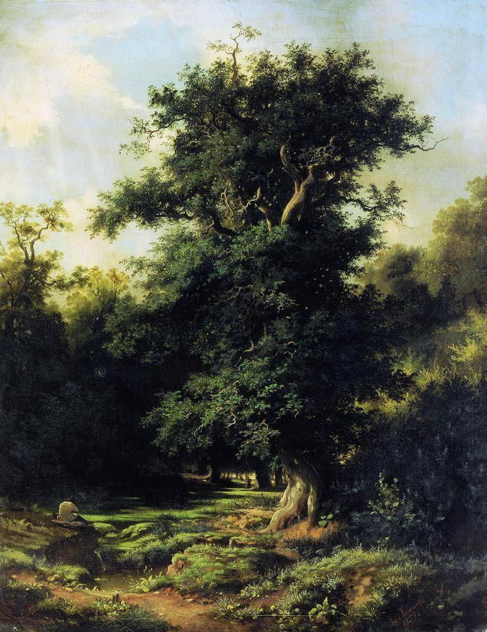 Lev Kamenev – The Latvian National Museum of Art. Старый дуб/The Old Oak (1859)