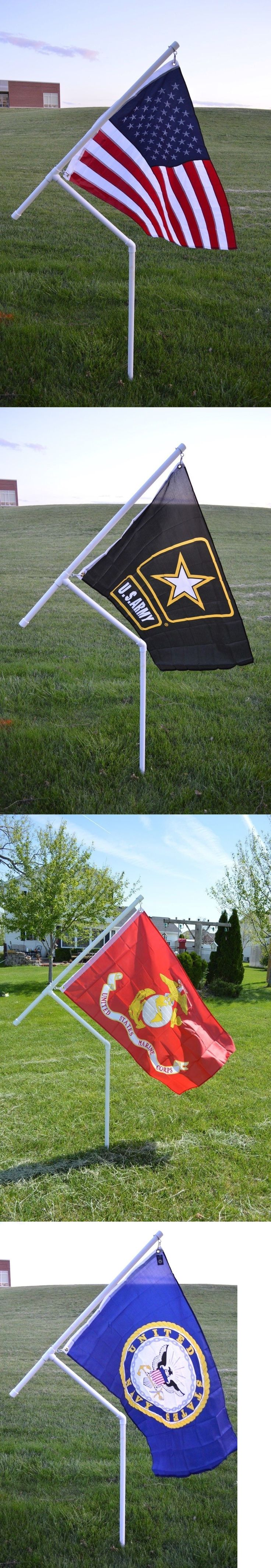 Details about spinner flag pole kit new 1 heavy duty pvc