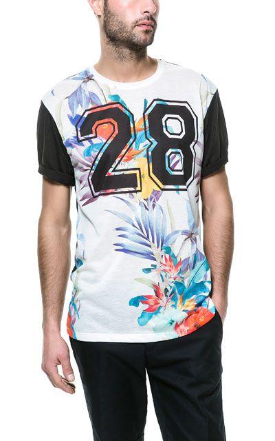 T - SHIRT À FLEURS - T - shirts - Homme | ZARA France #Tendance #Tropical #Boy…