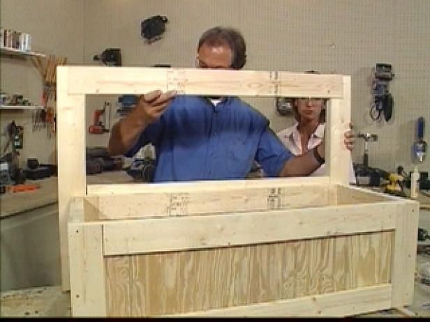 Make a toy chest that doubles as a bench with step-by-step instructions from HGTV.com.