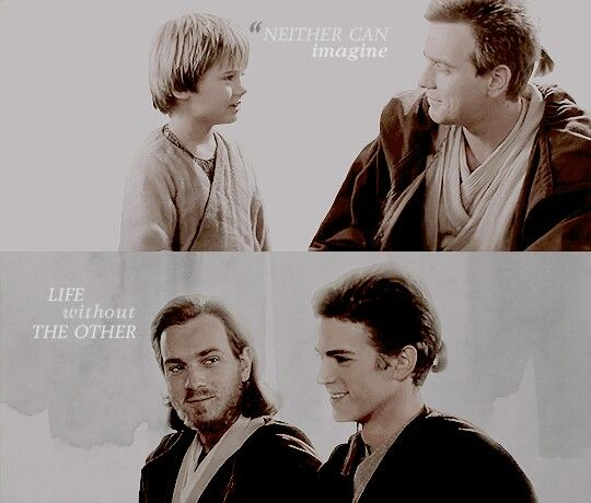 """You was like a brother for me"" #brother #anakin #skywalker #obione #kenobi #sith #jedi #love #socute"