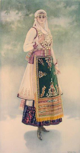 TRAVEL'IN GREECE I Peasant Woman's Costume (Euboea, Aidipsos)
