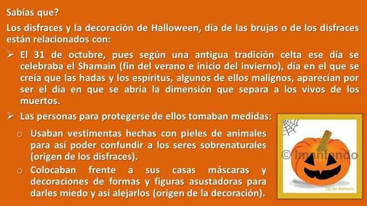 FelizJueves. Próximos al 31 de octubre #DíaDeDisfraces, seguimos dando respuesta a las preguntas que los #niños suelen hacer. Si ya les quedó claro el porqué se celebra, saben el por qué de los disfraces y de la decoración? #nochedebrujas, #Halloween