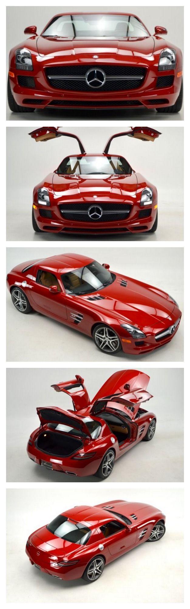 Oh la la! Le Mans red Mercedes-Benz SLS AMG #Autoawesome