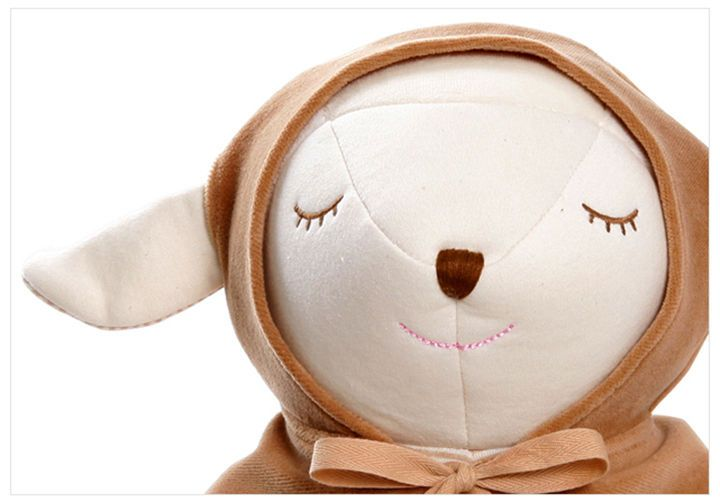 Baby Lamb Organic Doll Brown Cape Best Kids Gift Soft Eco Plush Sleep Toy Doll #MinkElepang