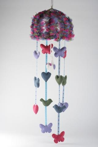 Baby  Mobile - love the idea of more than one on each string!