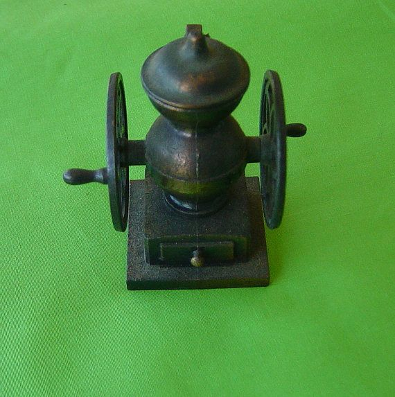 Vintage Miniature Coffee Grinder Pencil Sharpener by Castawayland