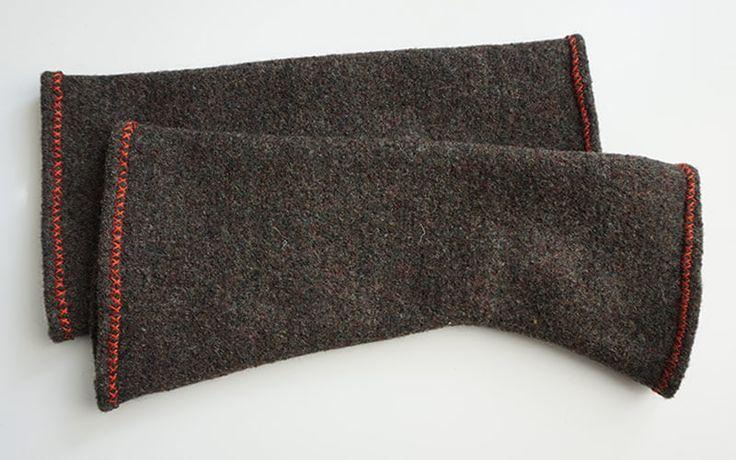 LARP-Armstulpen aus gefilzter Wolle