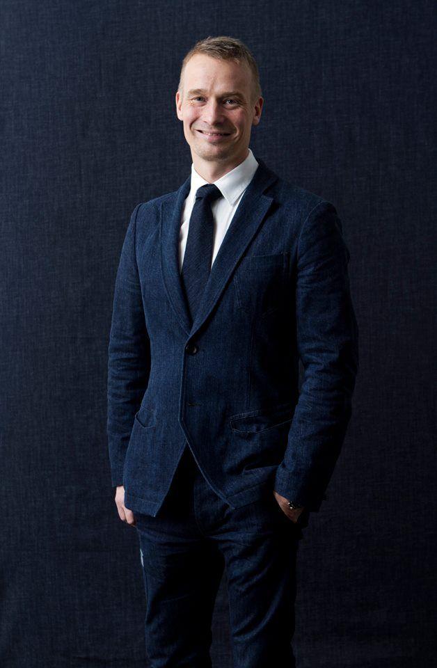 Design Forum Finland CEO Mikko Kalhama in #FRENN #denim #suit and #tie Photo: Riitta Sourander