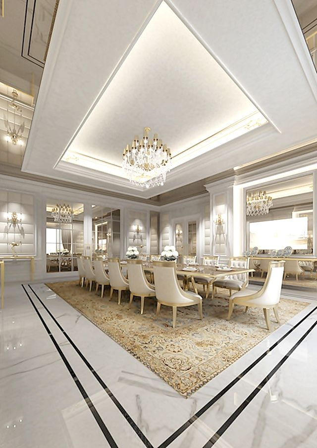 Ions design tempo da delicadeza inspiring interiors for Luxury dining room design