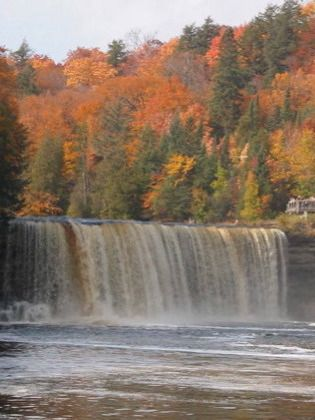 There are over 300 waterfalls in Upper Michigan.. This one is the Tahquamenon Falls.