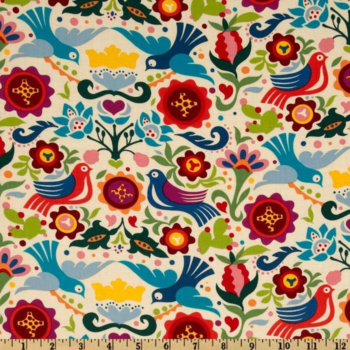 Fabric for an under sink cabinet curtain with an Amish look!   Lots of color here so would probably only use in a kitchen with white cabinets, and then also make a kitchen window valance with the same material.