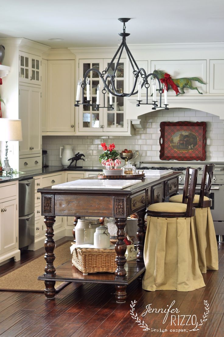 Farmhouse kitchen kitchen design decorating ideas housetohome co - Converted Horse Barn To Amazing Home From The Book Creatively Christmas Showing Holiday Decor And Cottage Kitchensfarmhouse