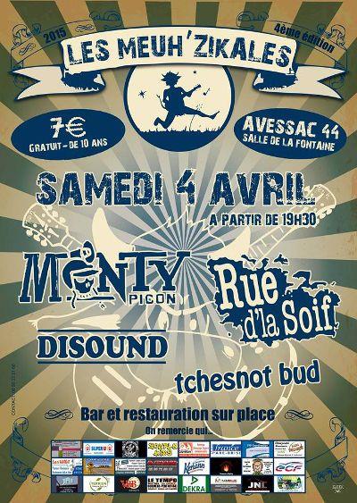 04 avril 2015 : Festival Les Meuh'Zikales 4 – Avessac (44) alternative/noise rock