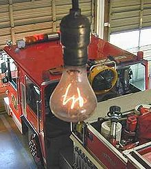 The Centennial Light is the world's longest-lasting light bulb. It is at 4550 East Avenue, Livermore, California, and maintained by the Livermore-Pleasanton Fire Department.[1] The fire department says that the bulb is at least 110 years old and has been turned off only a handful of times.