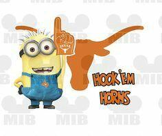 Hook 'em Horns Minion