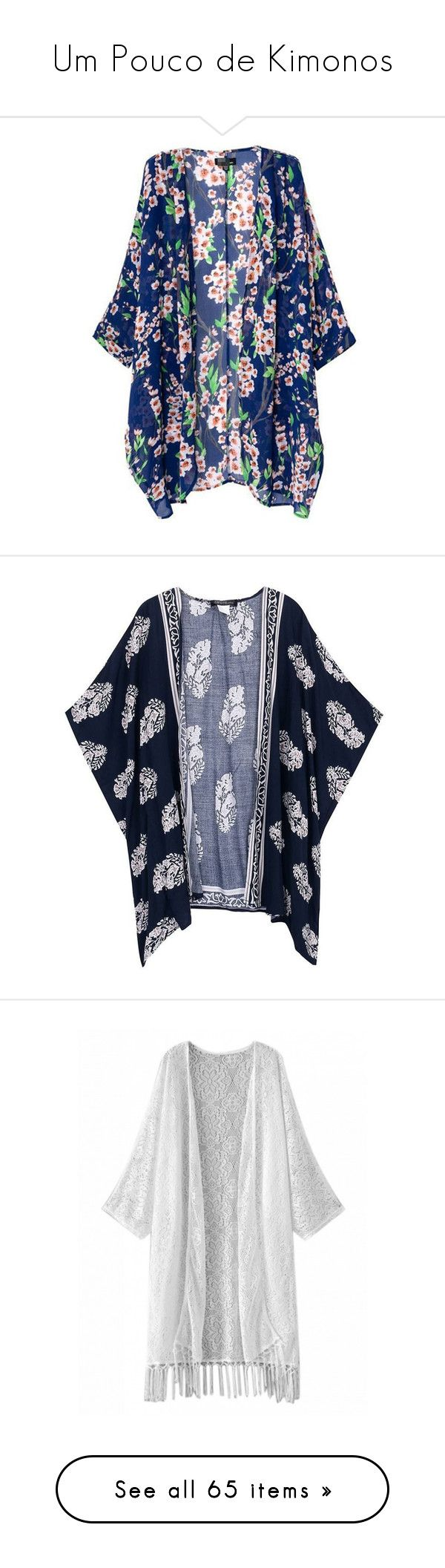 """""""Um Pouco de Kimonos"""" by liasalvatore ❤ liked on Polyvore featuring swimwear, cover-ups, swim suit cover up, kimono swimsuit cover up, bathing suit cover up, swim cover up, kimono swim cover up, tops, cardigans and outerwear"""