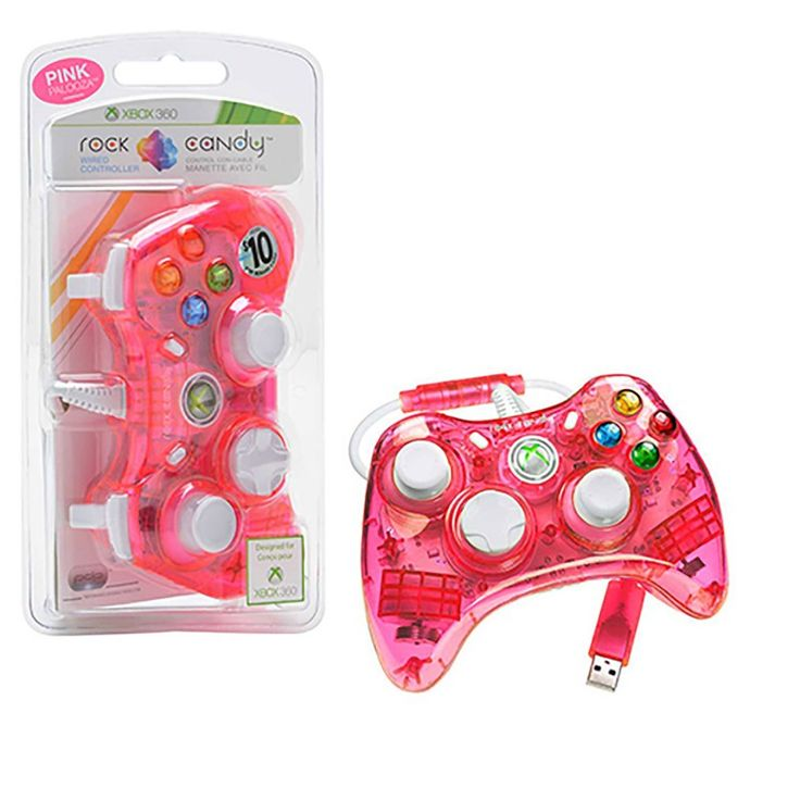 Pink Rock Candy Xbox 360 Controller by PDP https://www.retrogamingstores.com/gaming-accessories/xbox-360-controller-rock-candy-pink-pdp-708056052096  When it's a girl thing, this controller will always suit your taste.