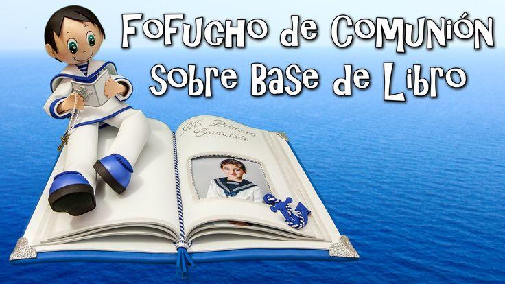 FOFUCHO DE COMUNIÓN SOBRE BASE DE LIBRO - GOMA EVA