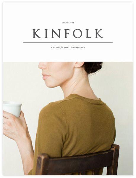 Kinfolk #magazine #layout #cover