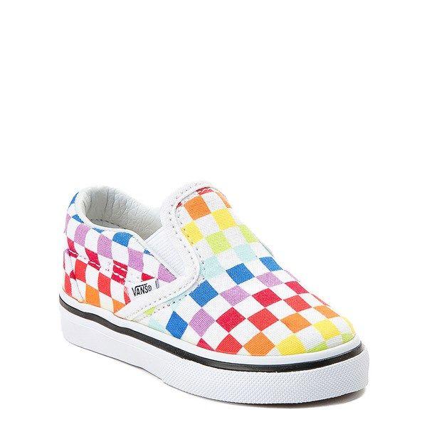 Vans Slip On Rainbow Checkerboard Skate