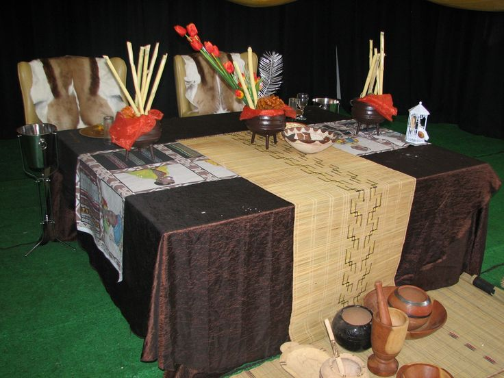 African wedding main table