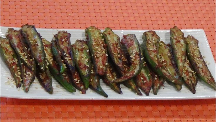 Healthy Grilled Okra with Red Fermented Bean Curd
