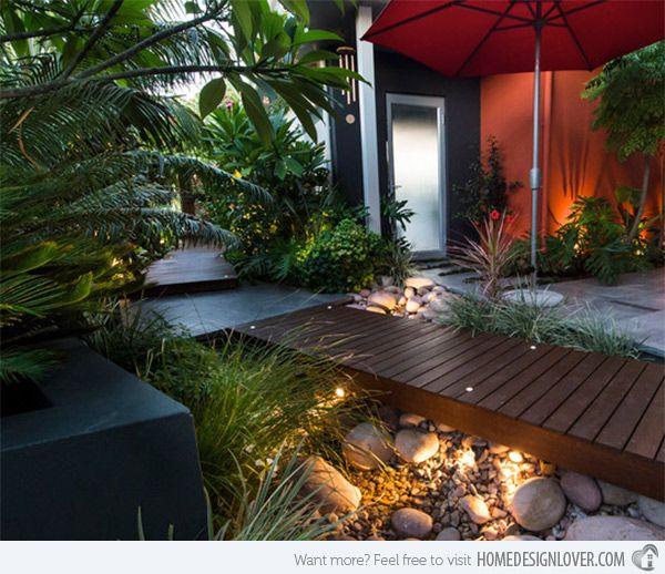 15 Outstanding Contemporary Landscaping Ideas Your Garden: 15 Whimsical Wooden Garden Bridges