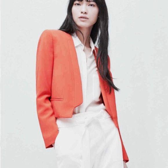 Mango Suit Jacket Deep red Mango suit jacket! Mango Jackets & Coats Pea Coats