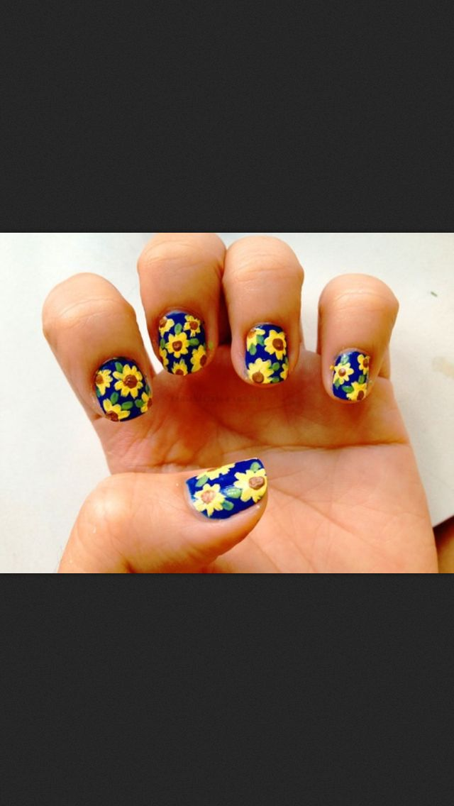 Sunflower Daisy    Season Nail for Sunflower men the Nails  shoes Designs Nails   Sunflowers for workout and
