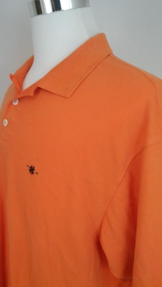 Lucky Brand Dungaree's Orange Polo Mens Polo Shirt Size Large #LuckyBrand