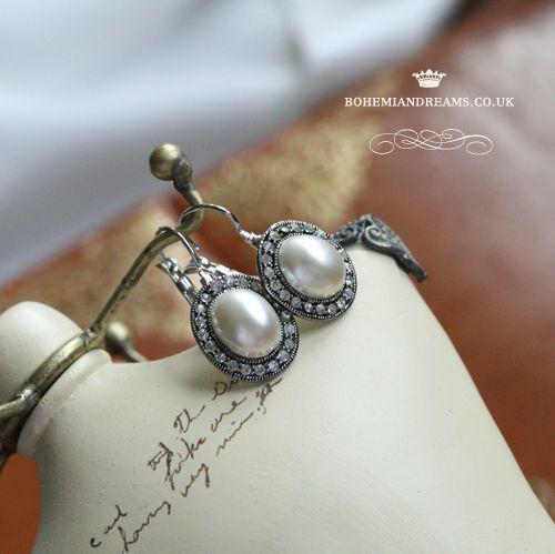 pearl earrings www.bohemiandreams.co.uk