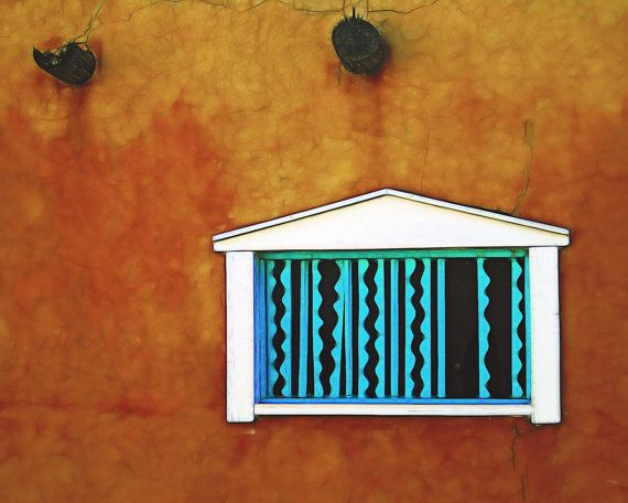Original Fine Art Photography: The blue color around doors and windows is a New Mexican tradition, brought by the Spanish, originating in the