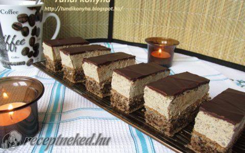 Álom diós-kávés sütemény recept fotóval