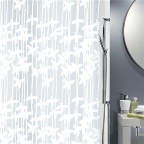 Duschdraperi Spirella Sarong white 180x200