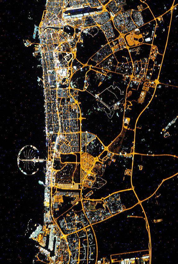 Dubai from space 188 best Dubai UAE