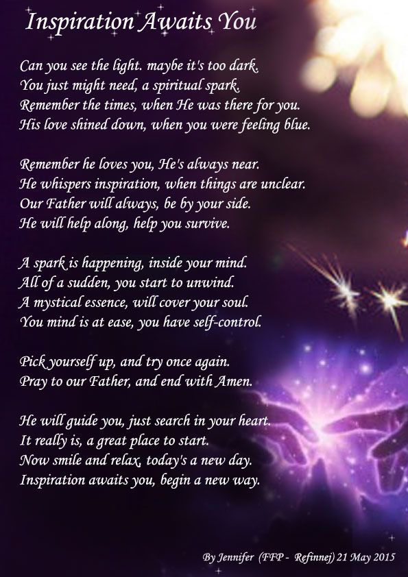 Inspiration Awaits You (A NEW WAY) - Spiritual Poetry ...