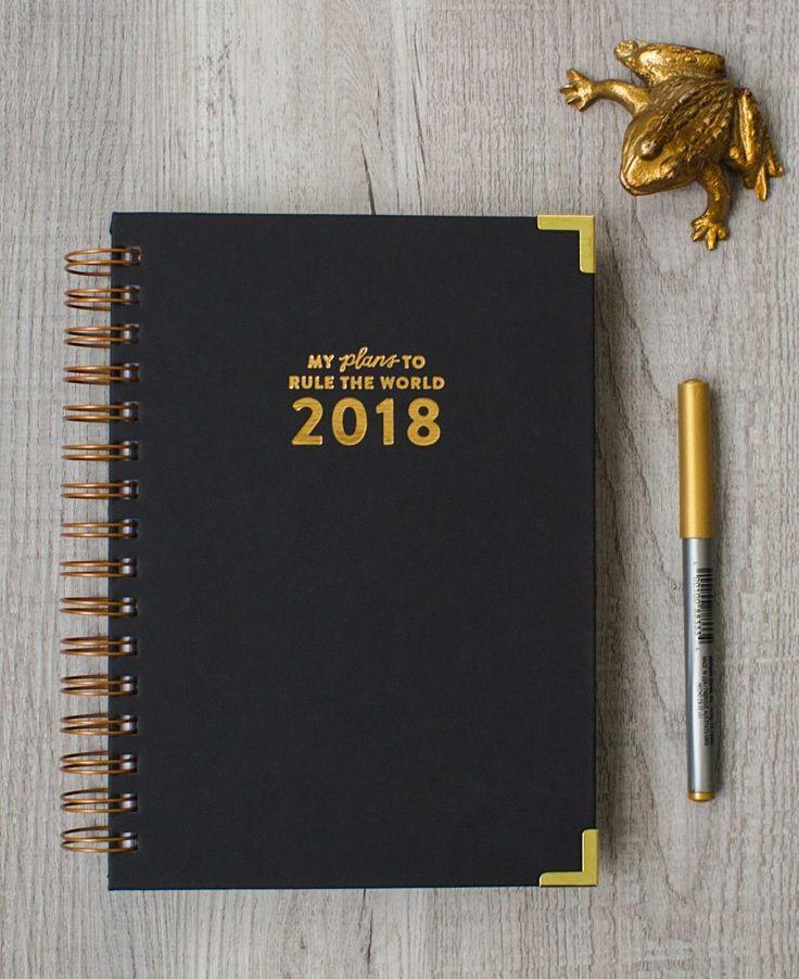 2018 Rule The World Planner with Ruler – The Bullish Store - #planner #organizer #ruletheworld #feminist #getbullish
