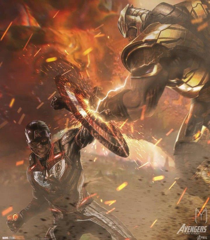 Captain America Vs Thanos Avengers End Game The First Avenger