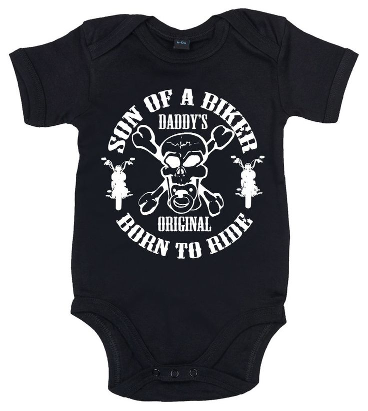 Son of a Biker Motorcycles Anarchy Funny Skull Baby grow Baby Boy Bodysuit Vest #imageiseverything