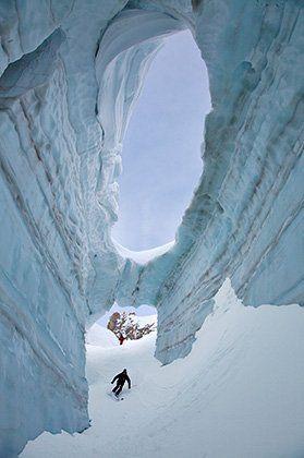 Au coeur du glacier...