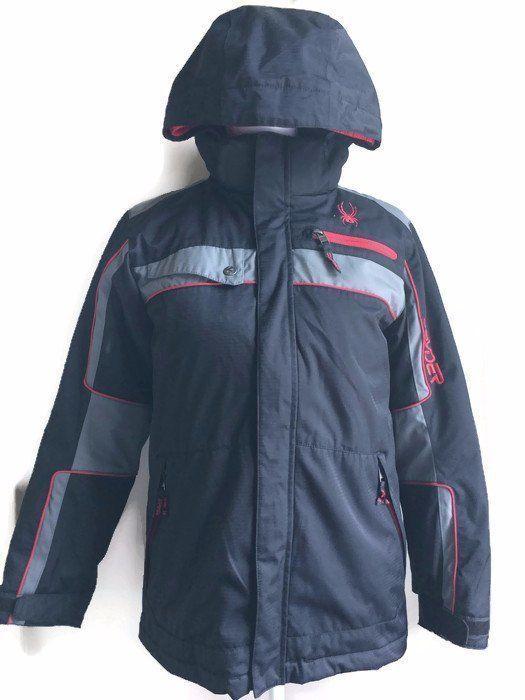 Spyder Boys Ski Snow Coat Winter Size 14 Youth Kids 2 in 1 Black Red Gray  | eBay