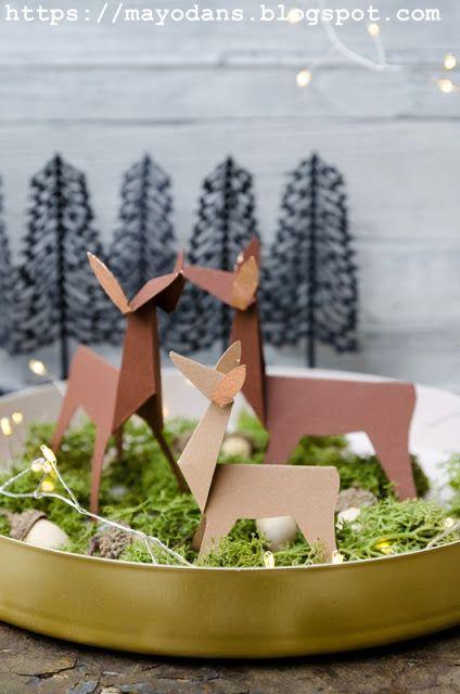 DIY Origami Rehe und ein Plotter Freebie für euch