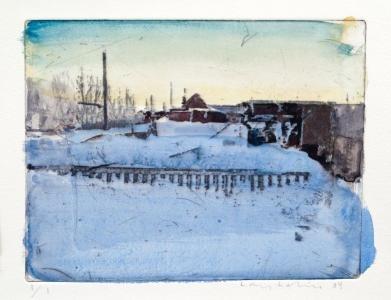 lars lerin, #103, 2012, 25x26 cm,
